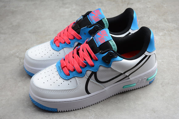 Nike Air Force 1 '07 AF1 07 Low React D MS X White Sky Blue Red Black Men Women Sneakers Shoes Size 36-45 / 5.5-11 CD4366-003