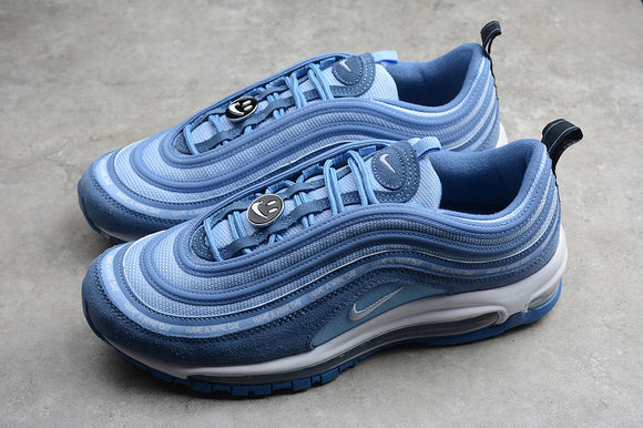 Nike Air Max 97 IND INDIGO STORM/WHITE-ALUMINUM-BLACK Men Women Shoes Sneakers BQ7565-400