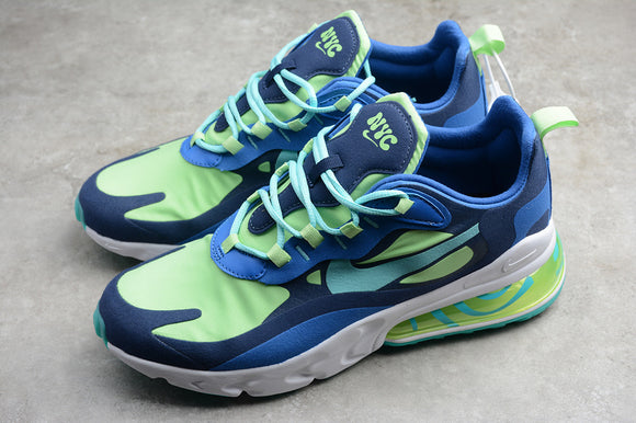 Nike Air Max 270 React Blue Green White Men Women Shoes Sneakers AO4971-007