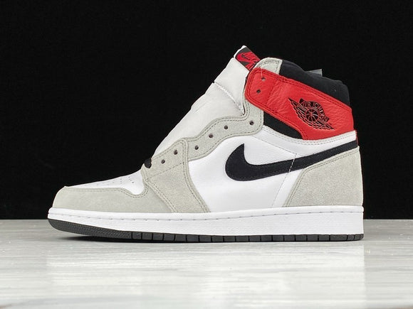 Nike AIR JORDAN 1 Retro High OG White Black Light Smoke Grey Men Shoes Sneakers Size 40-46 / 7-12 555088-126