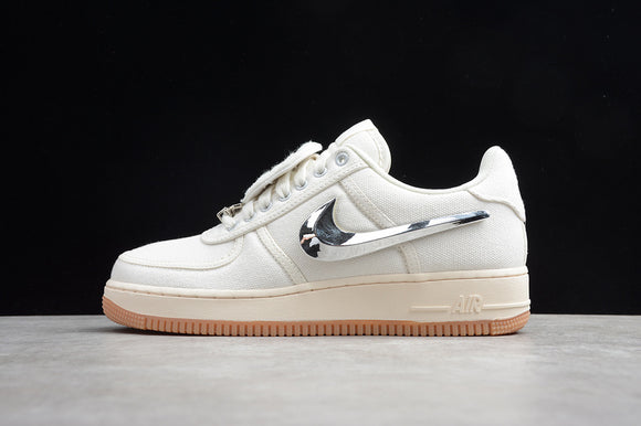 Nike Air Force 1 H12 Low X Travis Scott White White Silver Men Shoes Sneakers AQ4211-101