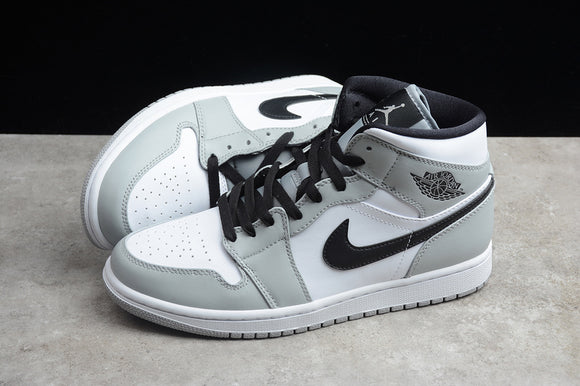 Nike AIR JORDAN 1 MID Cool Grey Black White Men Shoes Sneakers Size 40-46 / 7-12 554725-092 554724-092