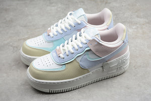 Nike Air Force 1 '07 AF1 07 Low Shadow Ice Cream White Multi Colors Women Sneakers Shoes Size 35-40 / 4.5-8.5  CI0919-106