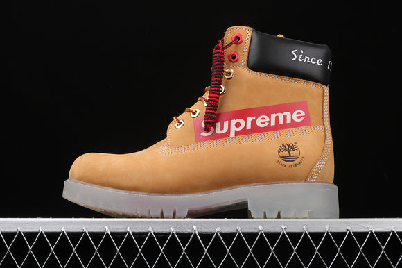 TIMBERLAND MEN Classic Anniversary 1918 - 2018 Supreme Wheat Nubuck Clear & USA Flag Buttom  6 inch Premium Boots Waterproof TB010061-713