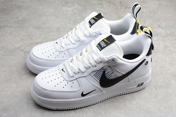 NIKE AIR FORCE 1'07 AF1 Utility White White Black Grey LV8 Utility White White Black Tour Yellow Men Women Shoes Sneakers AJ7747-100