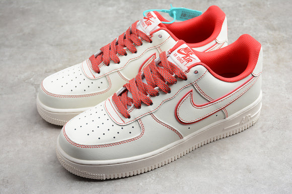 Nike Air Force 1 '07 AF1 07 LV8 3M White Red Men Women Sneakers Shoes 315122-707