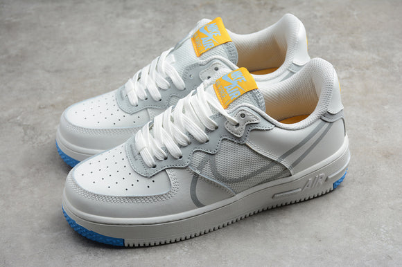 Nike AIR FORCE 1 White Light Smoke Grey University Gold Men Women Sneakers Shoes CT1020-100