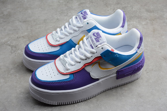 Nike Air Force 1 '07 AF1 Low Shadow White Blue Purple Women Sneakers Shoes CI0919-025