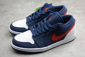 Nike AIR JORDAN 1 Low Blue Gym Red White Men Women Shoes Sneakers Size 36-47.5 / 5.5-13.5 CZ8454-400