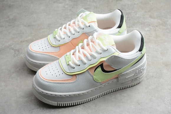 Nike Air Force 1 '07 AF1 07 Low Shadow Summit White Barely Volt Crimson Tint Women Sneakers Shoes Size 36-40 / 5.5-8.5 CI0919-107
