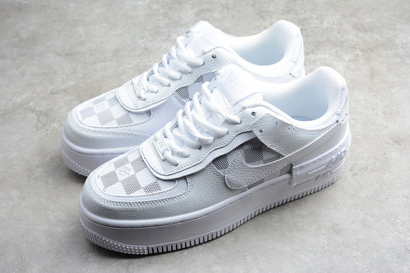 Nike Air Force 1 '07 AF1 White White Grey Low Shadow LV Women Sneakers Shoes Size 36-39 / 5.5-8 CK3172-003