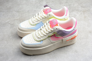 NIKE AIR Force 1 Pale Ivory Digital Pink / Shadow White Pink Purple Women Shoes Sneakers Size 36-39 / 5.5-8 CU3012-164