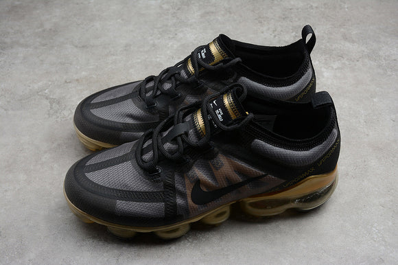 Nike Air Vapormax 2019 Black Metallic Gold Men's Running Shoes Sneakers AR6631-002