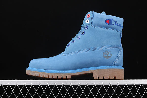 TIMBERLAND MEN WOMEN Classic Hommes Blue Champion 6 inch Premium Boots Waterproof A1UCG