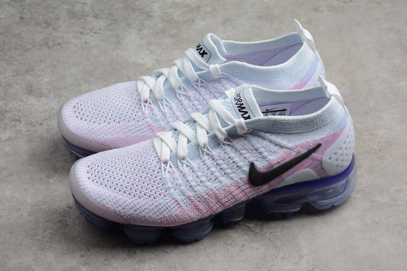Nike Air Vapormax Flyknit 2.0 Hydrogen Blue Pink Women Shoes Sneakers 942843-102
