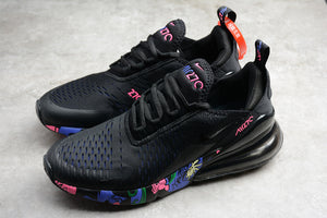 Nike Air Max 270 Graffiti Black Violet Black Blue Pink Men's Women's Shoes Sneakers Size 36-45 / 5.5-11 AH8050