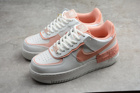 Nike Air Force 1 '07 AF1 07 Low Shadow White Pink / Summit White Pink Quartz Women Sneakers Shoes Size 35-40 / 4.5-8.5 CJ1641-101