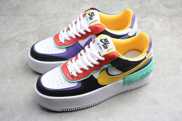 Nike Air Force 1 '07 AF1 Low Shadow White Black Red Yellow Green Purple Women Sneakers Shoes Size 36-39 / 5.5-8 CI0919-023