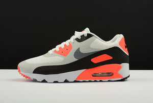 Nike AIR Max 90 Ultra Essential 2.0 White Cool Grey Infrared Black Men Shoes Sneakers 819474-106