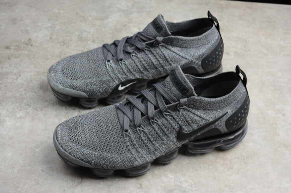 Nike Air Vapormax Flyknit 2.0 Grey Black Men Shoes Sneakers 942842-002