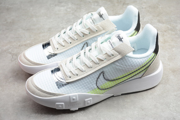 Nike Waffle Racer 2X Summit White Volt Chrome Black Men Sneakers Shoes Size 39-45 / 6.5-11 DC4467-100