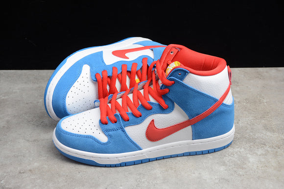 Nike SB Dunk High Doraemon Light Photo Blue Speed Yellow University Red Men Women Sneakers Shoes Size 36-45 / 5.5-11 CI2692-400