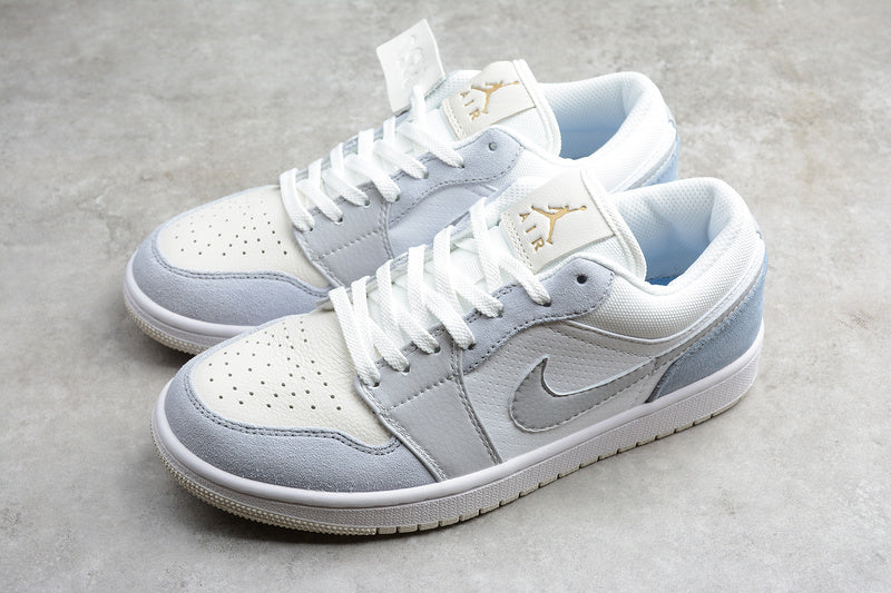 Nike Air Jordan 1 Low Paris White Sky Grey Football White Grey Shallow Bigfiveshop Com