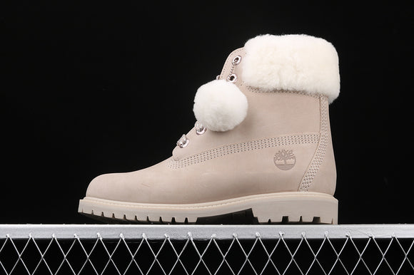 TIMBERLAND WOMEN Classic Light Taupe Nubuck Light Grey White Pink 6 inch Premium Boots Waterproof TB0A21VTK51