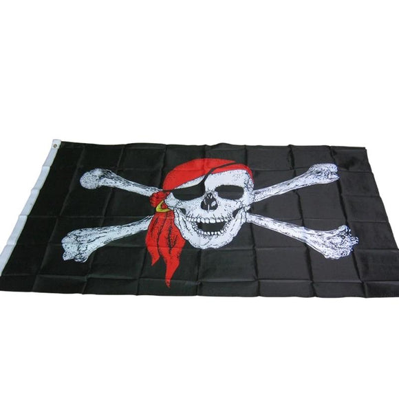 90* 150CM One Piece pirate flag / skull Flag / Banner Halloween / Halloween activities quality polyester - 88digital
