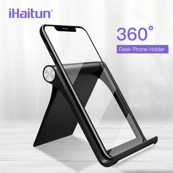 iHaitun 360 Mobile Phone Desk Holder Stand For iPhone XS MAX XR X Mount Phone Stand Tablet For Xiaomi Redmi Note 7 Samsung S9 S8 - 88digital
