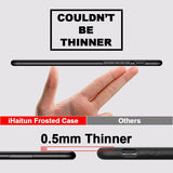 iHaitun Luxury 0.4mm Phone Case For iPhone 11 Pro MX Cases Ultra Thin Transparent Back Slim Cover For iPhone X 10 8 7 Plus Full - 88digital