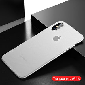 iHaitun Luxury 0.4mm Phone Case For iPhone XS MAX XR X Cases Ultra Thin Slim Transparent Back Cover For iPhone X 10 7 8 Plus Ful - 88digital