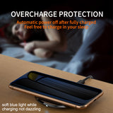 iHaitun Luxury Qi Wireless Charger Pad Fast Charging For iPhone 11 Pro Mobile Phone Wirless Charger Dock Stand For Samsung S10 - 88digital