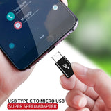 iHaitun USB Adapter USB C to Micro USB OTG Cable Type C Converter for Xiaomi 8 Samsung Galaxy S8 S9 Huawei Mate 20 P20 Pro P10 - 88digital