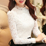 plus size tops fashion woman blouses 2018 white lace blouse shirt long sleeve women shirts blusas femininas women blouse 1695 50 - 88digital