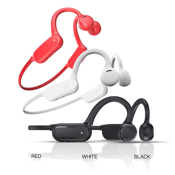 Wireless sports bluetooth earphone bone conduction speakers running headphone motorcycle headset