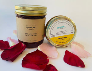 Strawberry Vanilla Jam and Chocolate Pear Mini Gift Set