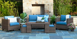 Pepperidge 6pc Deep Seating Set with Sunbrella Fabric