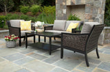 Hawthorn 4pc Deep Seating with Sunbrella Fabric