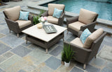 Noble 5pc Deep Seating with Sunbrella Fabric