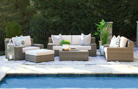 Oakley 5pc Deep Seating Set with Sunbrella Fabric