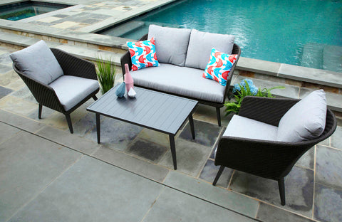 Willow Deep Seating with Sunbrella Fabric