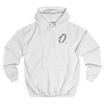 Wave hoodie white (part 1) front