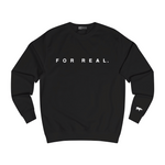 Label sweater black front