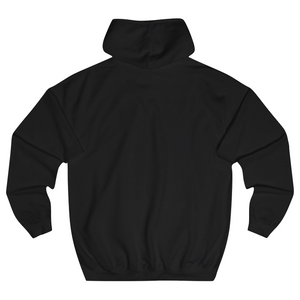 Label hoodie black back