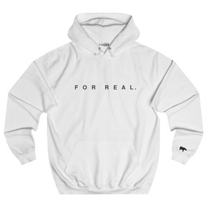 Label hoodie white front