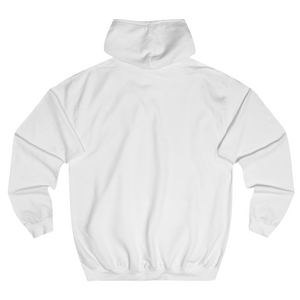 Label hoodie white back
