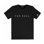 Label tee black front