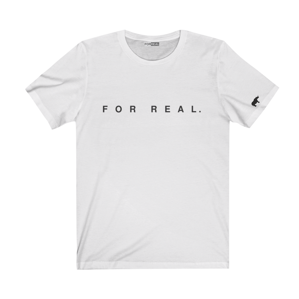 Label tee white front