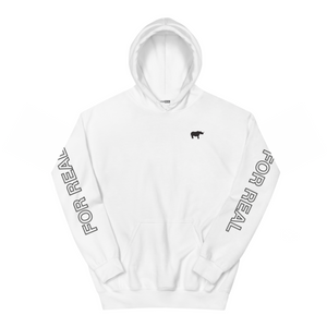 Side hoodie white front